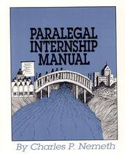 Cover of: Paralegal Internship Manual