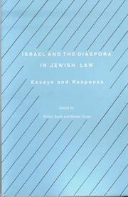 Cover of: Israel and Diaspora (Studies in Progessive Halakhah, 6) | W. Jacob