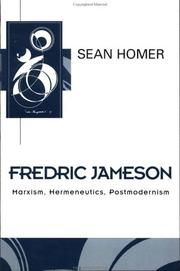 Cover of: Fredric Jameson | Sean Homer