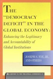 Cover of: The Democracy Deficit in the Global Economy