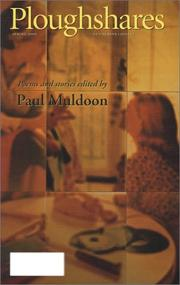 Cover of: Ploughshares Spring 2000  | Paul Muldoon