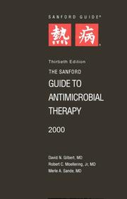 Cover of: The Sanford Guide to Antimicrobial Therapy 2000 (Pocket ed) | Jay P. Sanford