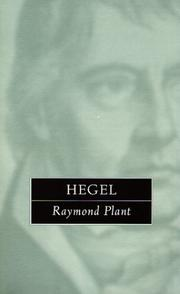Hegel by Plant, Raymond.