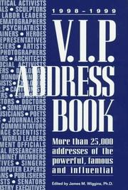 Cover of: 1998-1999 V.I.P. Address Book (VIP Address Book)