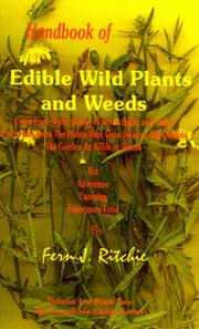 Cover of: Handbook of Edible wild Plants and Weeds | Fern J. Ritchie