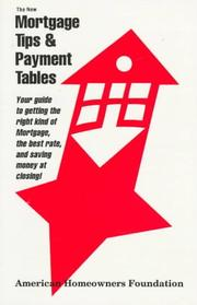 Cover of: The New Mortgage Tips & Payment Tables