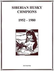Cover of: Siberian Husky Champions, 1952-1980