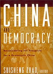 Cover of: China and Democracy