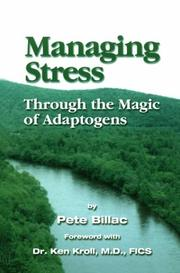 Cover of: Managing Stress-Through the Magic of Adaptogens