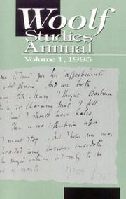 Cover of: Woolf Studies Annual