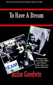 Cover of: To Have A Dream