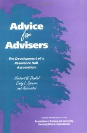 Cover of: Advice for Advisers