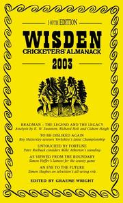 Cover of: Wisden Cricketers' Almanack (Wisden)