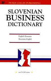 Cover of: Business Slovenian Dictionary
