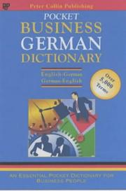 Cover of: German Business Glossary (Business Glossaries)