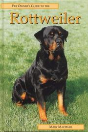 Cover of: ROTTWEILER (Pet Owner's Guide)