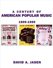 Cover of: A century of American popular music