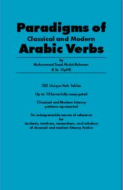 Cover of: Paradigms of Classical and Modern Arabic Verbs