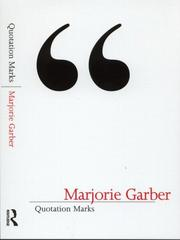Cover of: Quotation marks | Marjorie B. Garber