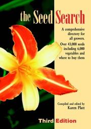 The Seed Search by Karen Platt