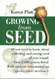 Cover of: Growing from Seed