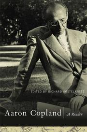Cover of: Aaron Copland: A Reader