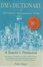Cover of: DM's Dictionary of Alternative Management Terms