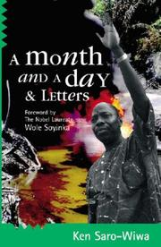 Cover of: A Month and a Day & Letters