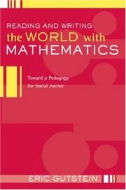 Cover of: Reading And Writing The World With Mathematics | Eric Gutstein