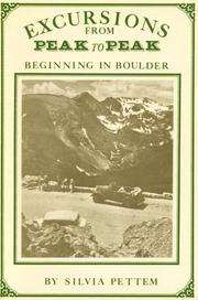 Cover of: Excursions from Peak to Peak Beginning in Boulder