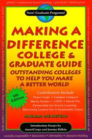 Cover of: Making a Difference College & Graduate Guide | Miriam Weinstein