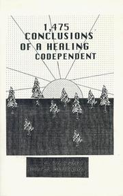 Cover of: 1475 Conclusions of a Healing Codependent | Dee Frances