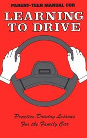 Cover of: Parent-Teen Manual for Learning to Drive