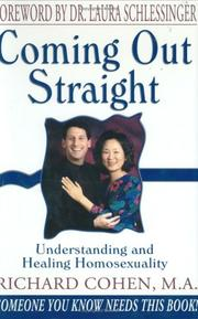 Cover of: Coming Out Straight | Richard Cohen