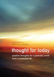 Cover of: Thought for Today