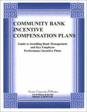 Cover of: Community Bank Incentive Compensation Plans
