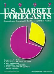 Cover of: 1997 U.S. Market Forecasts | Tom Dahlin