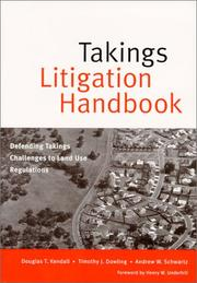 Cover of: Takings Litigation Handbook  | Douglas T. Kendall