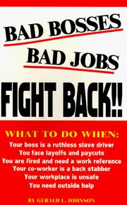 Cover of: Bad Bosses, Bad Jobs, Fight Back!!!