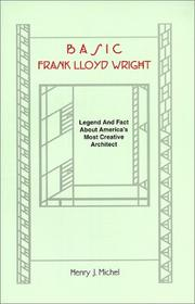 Cover of: Basic Frank Lloyd Wright