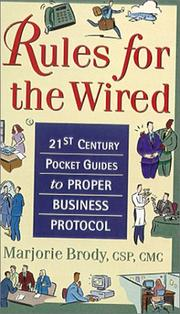 Cover of: 21st Century Pocket Guides to Proper Business Protocol