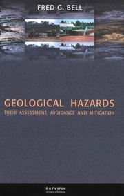 Cover of: Geological hazards | F. G. Bell