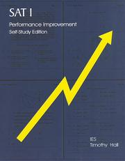 Cover of: SAT I Performance Improvement | Timothy G. Hall