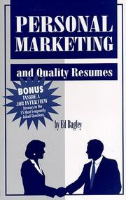Cover of: Personal Marketing | Ed Bagley