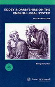 Cover of: Eddey and Darbyshire on the English Legal System (Concise College Texts)