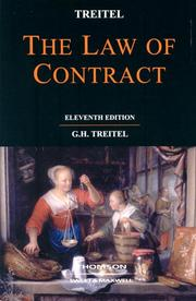 Cover of: The law of contract