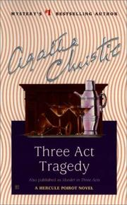 Cover of: Three Act Tragedy (Hercule Poirot Mysteries)