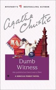 Cover of: Dumb Witness