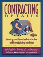 Cover of: Contracting Details
