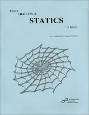 Cover of: Zero Challenge Statics | Andrew R. Wallach